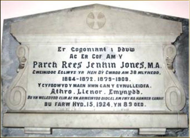 Plaque of Rev R.J. Jones Hen dy Cwrdd