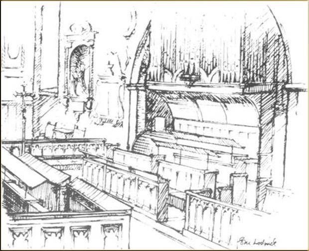 Organ at St Peter's around 1798