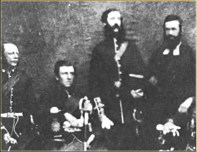 Canon J.D. Jenkins with the officers of the 45th Regiment