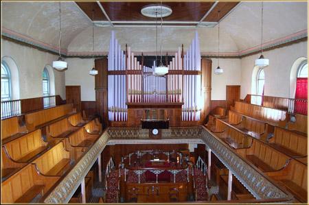 Inside Calfaria Chapel
