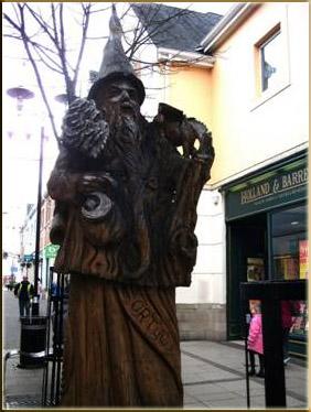 Merlin's Statue Carmarthen