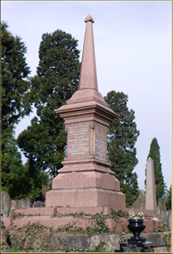 The tomb of Rhys Llewellyn's & Family
