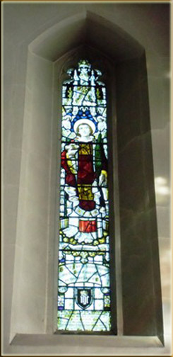 Stained glass dedicated to Rev. J. Griffiths