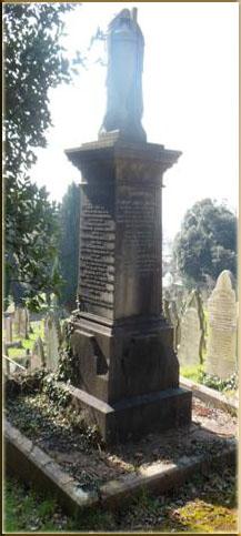 The grave of Rev Thomas Jones
