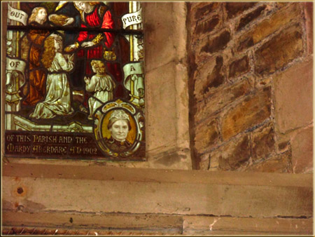 This picture is of his wife, and is depicted in St Issell's Saundersfoot,