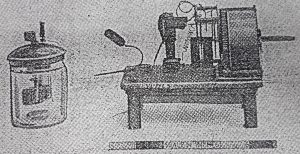 Picture of first radio set