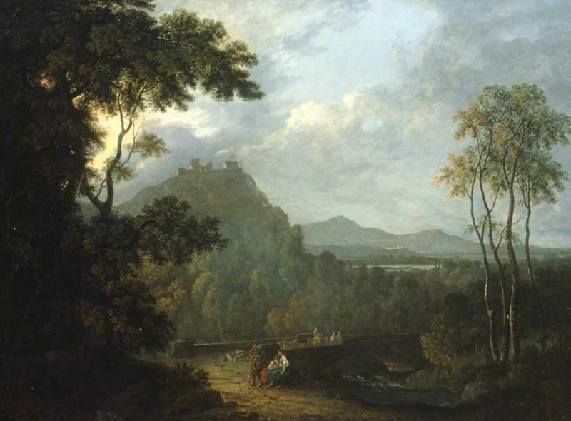 Painting of Dinas Bran