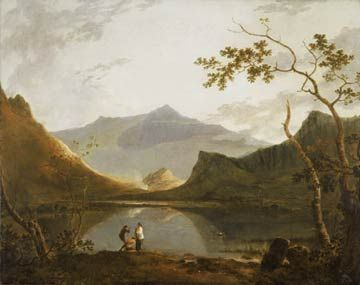 Painting of Snowdon from Llyn Nantlle