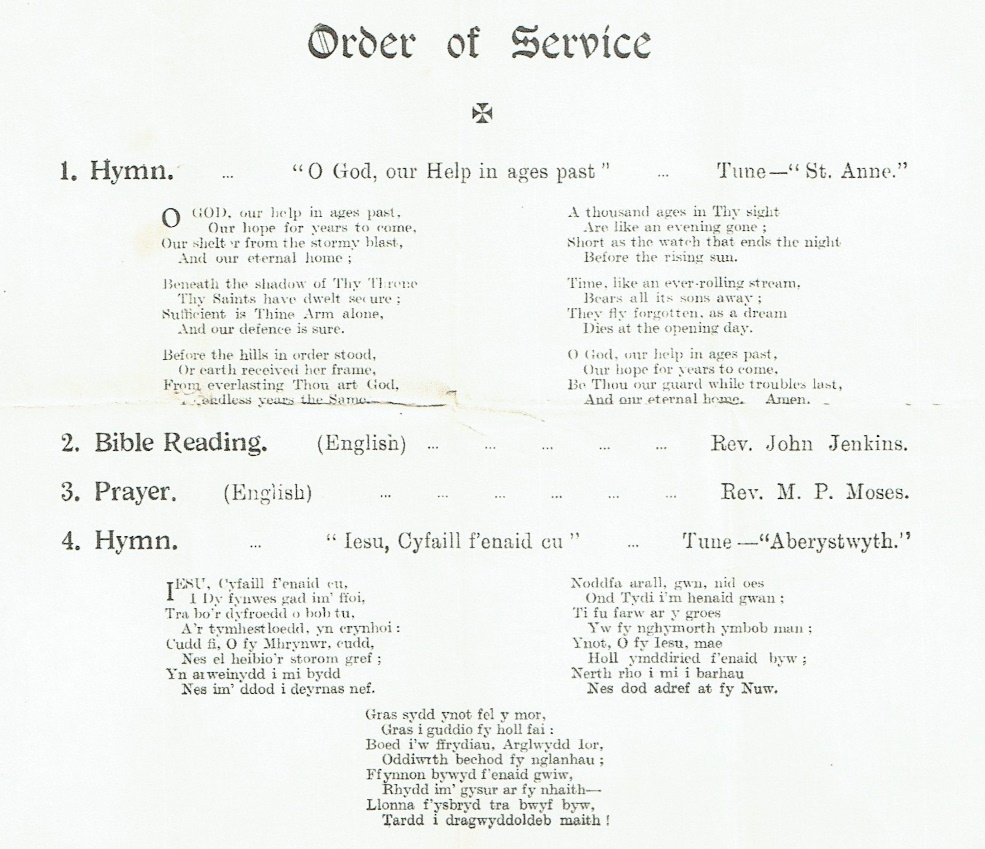 Picture of Order of Service Page 1