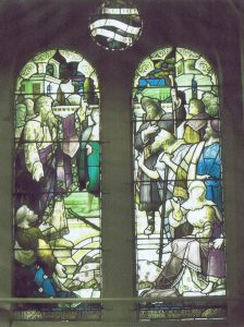 Stained glass dedicated to Rev Thomas Jones
