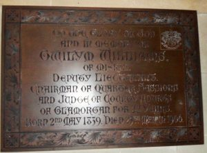 Picture of the Brass Plate on the North Wall