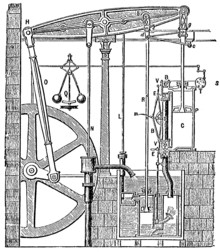 Drawing of Steam Engine