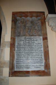 Picture of memorial plaque in Pendoylan Church