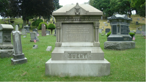Picture of Gwilym Gwent's grave, Hollenback Cemetery